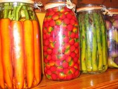 From a very cool site called, Old Fashioned Families with everything you need to know about canning, preserving, saving tons of money and general homesteading. When things are properly bottled, they can last 7 years! Can you say cheap food storage?! YES!!