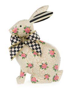 H87ST MacKenzie-Childs Rosie Rabbit Figure
