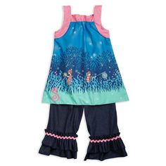 Swoon! Love this Night Fireflies Pink Dot Dark Denim Ruffle Capr... I discovered at lollywollydoodle.com and for only $51! Click the image above to get a $5 off coupon code for your next order!