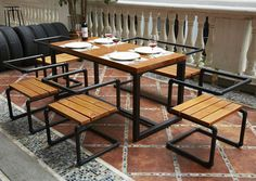 LOFT American country to do the old retro wood dinette table wood, wrought iron dining table coffee table desk