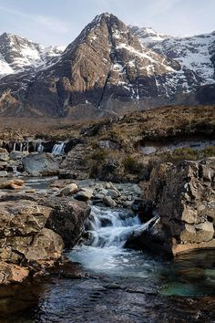 Black Cuillin & The Fairy Pools on the Isle of Skye, Scotland.