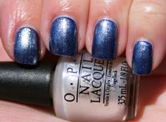 OPI Umpires Come Out At Night (2 coats) topped with OPI Girls Love Diamonds (1 coat)