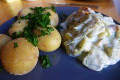 Veganer Heringssalat mit Aubergine