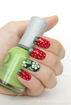 Strawberry ... Nail Art Design