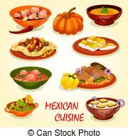 Cuisine Mexicaine Icone A Traditionnel Nourriture Cuisine