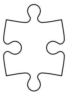 Dibujo para colorear pieza de puzle