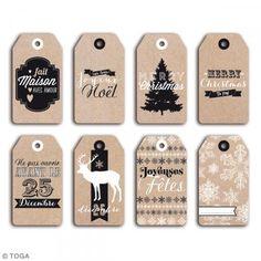 Tags etiquetas kraft - Navidad - 5 x 9 cm - 8 unidades - Fotografía n°2