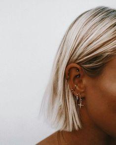 rook and tragus piercing . rook and tragus piercing together . rook and anti tragus piercing . rook piercing with tragus . piercing rook y tragus Ear Peircings, Cute Ear Piercings, Ear Piercings Cartilage, Cartilage Hoop, Multiple Ear Piercings, Tongue Piercings, Unique Piercings, Cartilage Earrings, Female Piercings