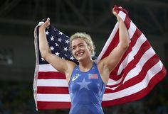 Helen Maroulis beats Japanese legend for first gold in U.S. women's wrestling…