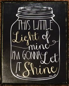 This Little Light of Mine I'm Gonna Let It by IntoYourHeartDesigns, $13.00