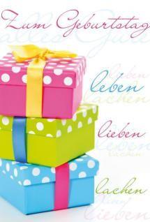 Glückwunschkarte Geburtstagskarte Zum Geburtstag mit Geschenken 51-0586