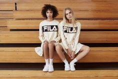 A look from Fila's exclusive women's collection for Urban Outfitters.