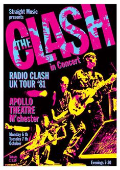 THE CLASH   6 October 1981 Apollo Theatre Manchester by tarlotoys,