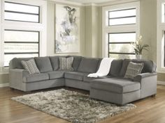 Loric Smoke Sectional Homemakers Furniture Home