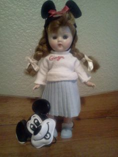 1950's  Cosmopolitan Ginger wearing Mouseketeer outfit.