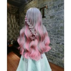 37 Vibrant And Pastel Mermaid Hair Color Ideas - New Site Ombre Hair, Pink Hair, Pretty Hairstyles, Braided Hairstyles, Braided Locs, Hairstyles 2018, Pretty Hair Color, Mermaid Hair, Rainbow Hair