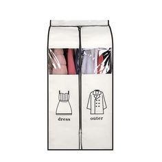 Large Capacity Cloth Hanging Suit Coat Dust Cover Protector Wardrobe Storage Bag Fold Portable Organizer Holder Clothes Blanket