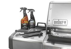 The Weber® Stainless Steel Grill Maintenance Kit is sure to keep your grill cooking and looking like new. This kit is safe to use on all Weber® grills with stainless steel exterior finishes.Kit includes: Weber® Grate Grill Cleaner, Grate Scrubber with fiv http://grillsidea.com/how-to-clean-charcoal-grill/