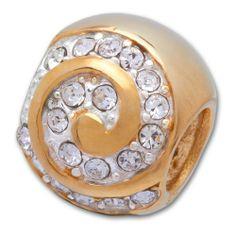 Silber Bead ohne Gewinde - rhodiniert und geeignet für alle Arten von Basisarmbändern. 'gold #beads #silver #schmuck #jewelry #silber