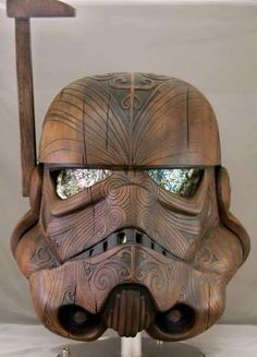 Created by New Zealand's Daniel Logan (with help from Shawna Hogan-Moore at Red Elk and Darcienne Sparber & Michael Moore at HMS Creative Productions), this Maori-styled Star Wars Stormtrooper helmet is just brilliant!