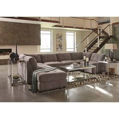 Claude+Contemporary+Two+Tone+Sectional+Sofa