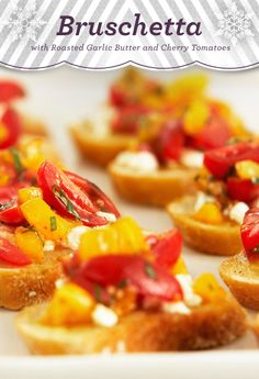 Cherry Hazelnut Bruschetta Dessert Recipe — Dishmaps