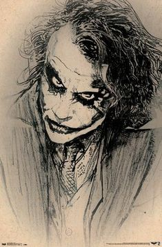 A great poster of a sketch of The Joker! Based on Heath Ledger from Christopher Nolan's Batman Dark Knight movie. Our amazing selection of Batman posters will drive you batty! Need Poster Mounts. Joker Batman, Heath Ledger Joker, Joker Art, Dc Comics Poster, Batman Poster, Comic Poster, Movie Posters, Batman The Dark Knight, Batman Dark