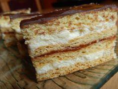 Mézes krémes - Süss Velem.com Hungarian Desserts, Hungarian Cake, Hungarian Recipes, Hungarian Food, No Bake Cake, Vanilla Cake, Fudge, Nutella, French Toast
