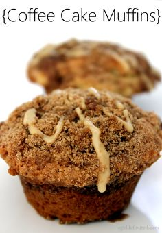Coffe cake muffins with maple   - i made these without the maple  and used thinly sliced apple in the muffins. ~Ina~