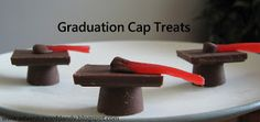 Adventures of D and V: Adventures in the Kitchen: Graduation Cap Treats