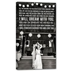 NEED a cotton anniversary gift? Or Holiday gift for the LOVE OF YOUR LIFE?   Photos + Words=perfect together!