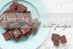 Day 14: 3 minute, 3 Ingredient Mint Fudge