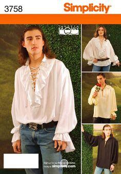 Sewing Pattern Shirt Renaissance Cavalier by hookandneedlepattern, $5.00
