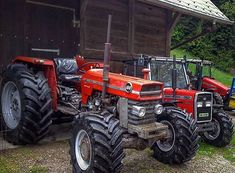 regram @oldtractorsworld From @toobias_g this nice Massey Ferguson line up