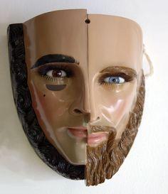 Máscara de Parachico, Chiapa de Corzo, Chiapas, México.