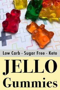 Sugar Free Keto Gummy Bears - Resolution Eats It's fun and easy to make your own sugar-free gummy candy at home. It's a zero carb dessert or snack that is much healthier than store bought gummy bears. And kids enjoy helping to make them too. Sugar Free Gummy Bears, Sugar Free Jello, Sugar Free Candy, Sugar Free Desserts, Sugar Free Gummies Recipe, Jello Gummy Bears, Jello Gummies Recipe, Sugar Free Kids Snacks, Gummy Bear Candy