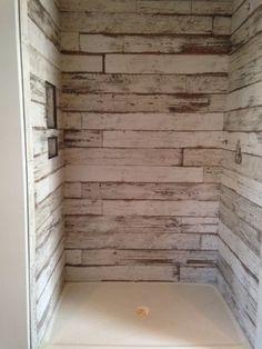 Wood Tile In Bathroom farmhouse shower. farmhouse bathroom shower. the shower was