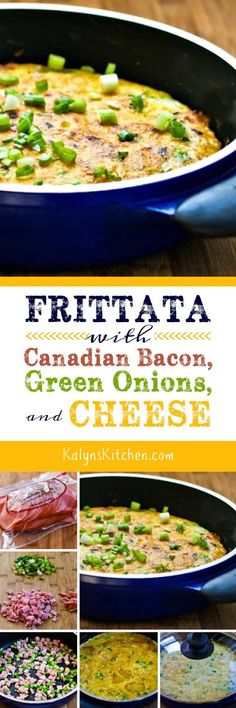 This tasty Frittata with Canadian Bacon, Green Onions, and Cheese is ...