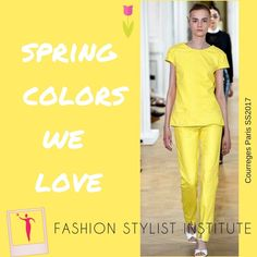 Wearing yellow boosts the mood at any time! Perfectly proportioned outfit. #selfesteemist #fashionstyling #courreges #imageconsultant