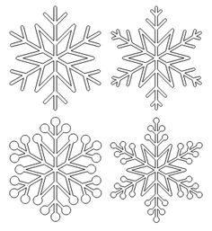 Dessin flocon de neige brico no l pinterest flocons - Dessin flocon de neige facile ...