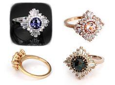 Mid Gatsby Ring Art Deco engagement custom par HeidiGibsonDesigns
