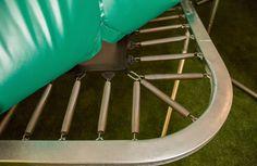 Hoek en veren van de nieuwe Etan Premium Platinum 1385 trampoline.