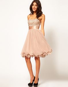 Little Mistress Floral Applique Prom Dress