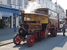 M 5798 1914 Foden Steam Bus Midland Steam Omnibus Company Vintage Trucks, Old Trucks, Classic Trucks, Classic Cars, Steam Tractor, Bus Coach, Old Tractors, Busses, Steam Engine