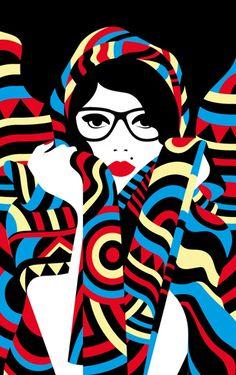 "Malika Favre e sua arte nas ""cores francesas"" Art And Illustration, Illustrations Posters, Pop Art, Arte Pop, Malika Fabre, Graphic Art, Graphic Design, Penguin Books, The New Yorker"