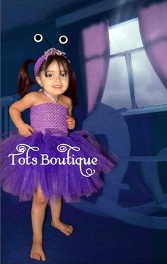 Toddler- Boo Monster's Inc University Inspired Tutu Dress