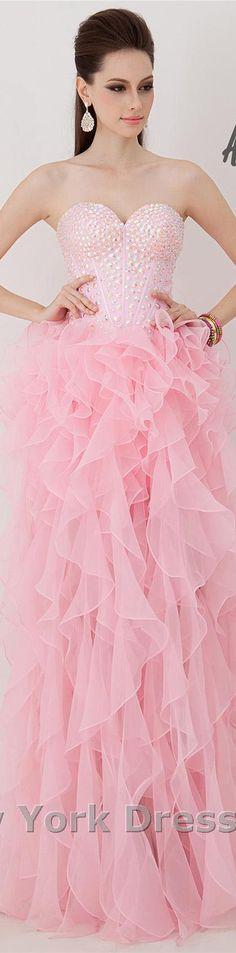 Angela and Alison design #elegant #formal #large #strapless #pink #dress