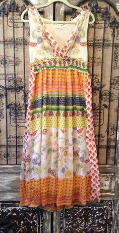 Jessica Taylor Chiffon Boho Maxi Sundress Dress Empire Waist Size 1X  #JessicaTaylor #EmpireWaist #Any