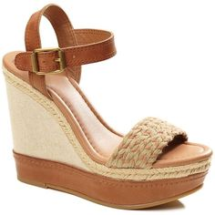 Lucky Brand Clancy Wedges* ($40) ❤ liked on Polyvore