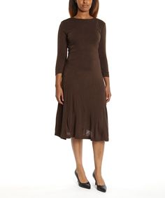 Another great find on #zulily! I-N-S-I-G-H-T New York Brown Midi Dress by I-N-S-I-G-H-T New York #zulilyfinds
